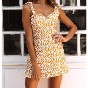 Yellow/floral dress from Hello Molly boutique